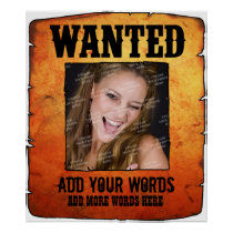 Wild West Wanted Poster (Personalized)