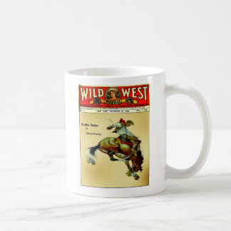 Wild West Weekly Bronc Rider Coffee Cup