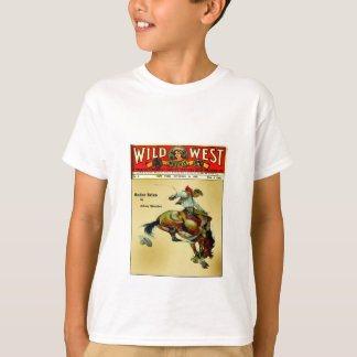 Wild West Weekly Bronc Rider Cowboy Kid's Shirt