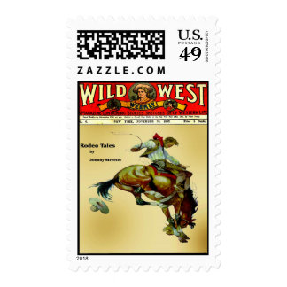 Wild West Weekly Bronc Rider Postage Stamps