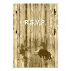 Wild west western cowboy wedding R.S.V.P Card