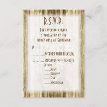 Wild west western cowboy wedding R.S.V.P RSVP Card