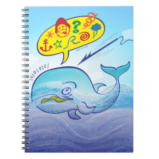 Wild whale saying bad words while fleeing harpoon spiral notebook