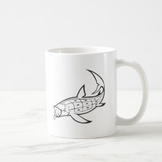 Wild Whale Shark in Black and White Mugs
