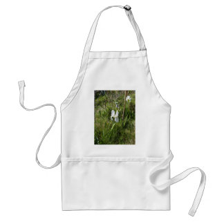 Wild White Canna Lily Adult Apron