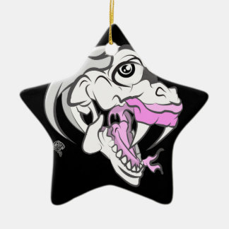 Wild White Dinosaur Ceramic Ornament