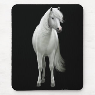 Wild White Horse Mousepad