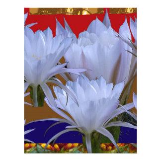 Wild White Lilly Flower :  Amazing world of nature Letterhead