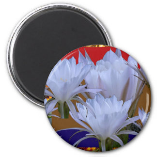 Wild White Lilly Flower :  Amazing world of nature Magnets