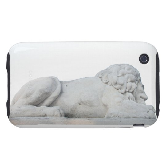 Wild White Lion Stone Statue Sculpture Photography iPhone 3 Tough Cover