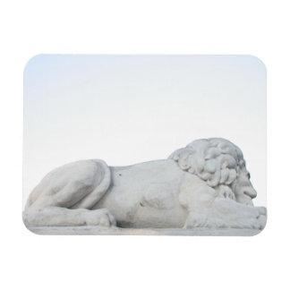 Wild White Lion Stone Statue Sculpture Photography Vinyl Magnets