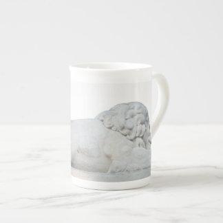 Wild White Lion Stone Statue Sculpture Photography Tea Cup