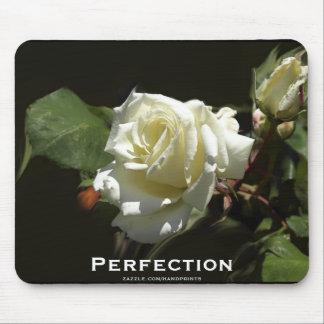 Wild White Rose Motivational  Mousepads