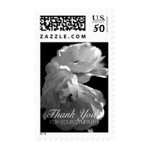 Wild White Roses 1 Sympathy Thank You Postage