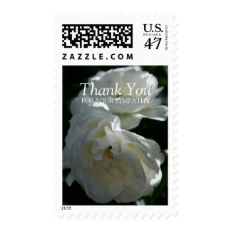 Wild White Roses 3 Sympathy Thank You Postage