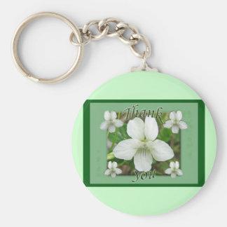 Wild White Violet Coordinating Items Keychain