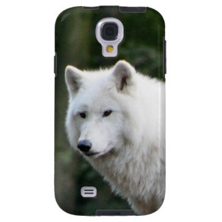 Wild White Wolf Galaxy S4 Case
