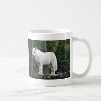 Wild White Wolf Coffee Mug
