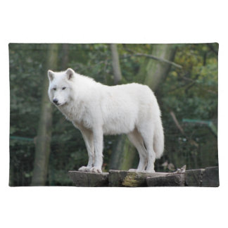 Wild White Wolf Placemats
