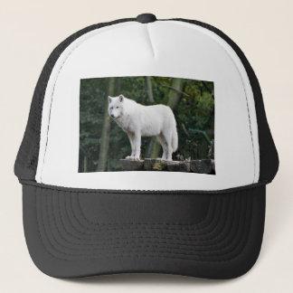 Wild White Wolf Trucker Hat