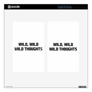 Wild Wild Thoughts Skin For Kindle Fire