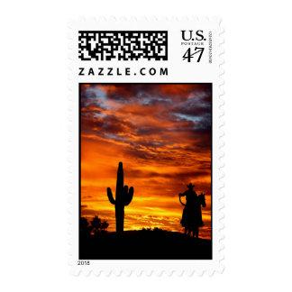 Wild Wild West Postage Stamp