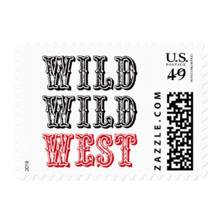 Wild Wild West! - Red Postage