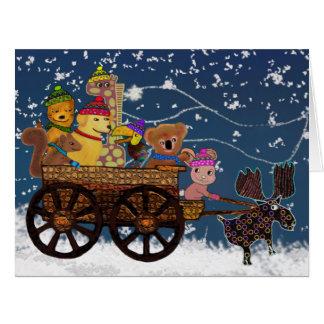 Wild Winter Hayride Card