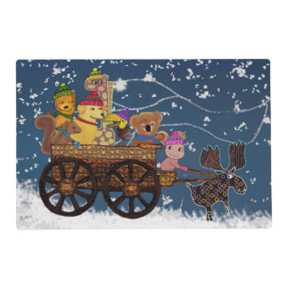 Wild Winter Hayride Placemat