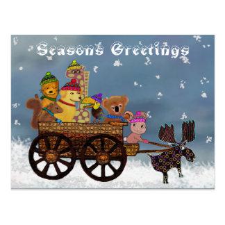 Wild Winter Hayride Postcard