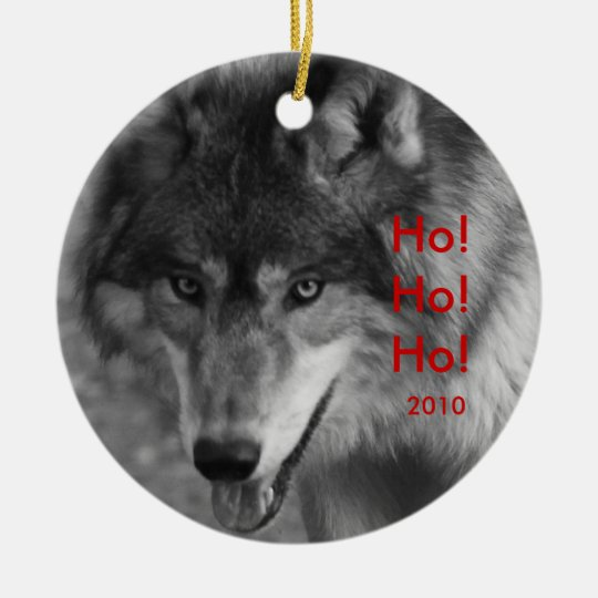 Wild Wolf 2010 Christmas Tree Ornament