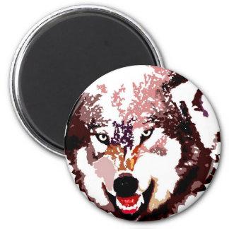 Wild Wolf 2 Inch Round Magnet