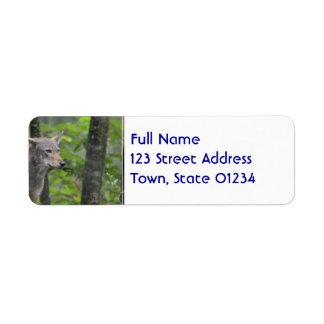 Wild Wolf Custom Return Address Labels