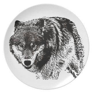 Wild Wolf Dinner Plate