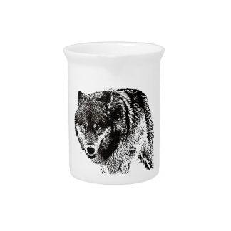 Wild Wolf Drink Pitcher