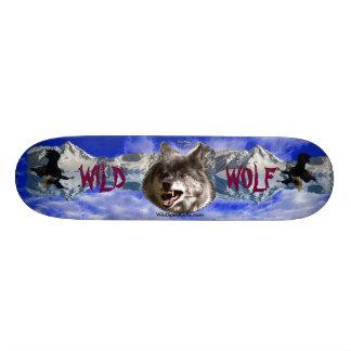 WILD WOLF & EAGLE Wildlife-lover Skateboard
