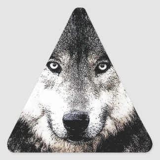 Wild Wolf Eyes Triangle Sticker
