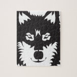 """Wild Wolf Face Silhouette Jigsaw Puzzle<br><div class=""""desc"""">Great design of Wild Wolf Face Silhouette</div>"""