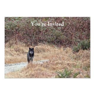 Wild Wolf Photo 5x7 Paper Invitation Card