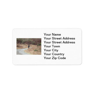 Wild Wolf Photo Label