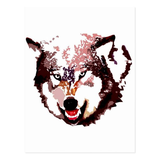 Wild Wolf Postcard