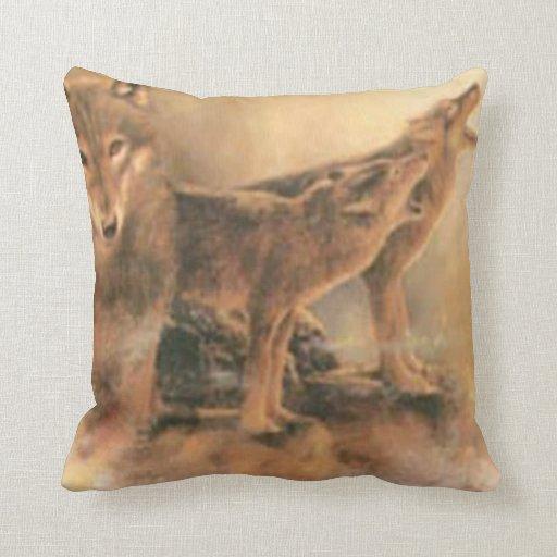 Wild Wolves Reversible Pillow