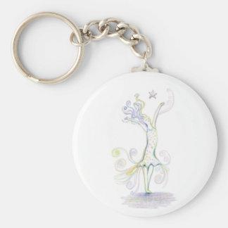 Wild Woman Basic Round Button Keychain