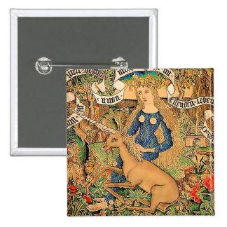 """Wild Woman With Unicorn"" Pins"