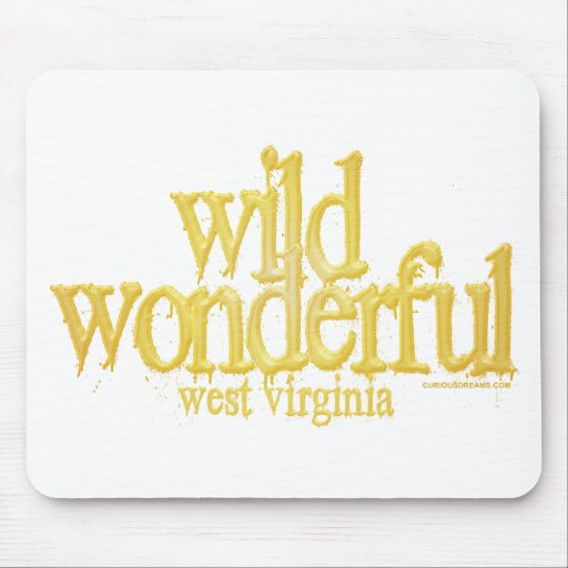 Wild Wonderful West Virginia-Yellow Mouse Pad