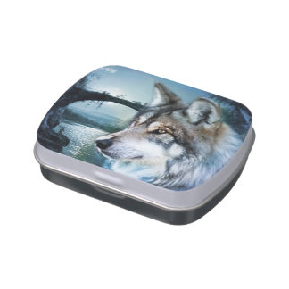 wild woodland moonlight  wolf jelly belly candy tin