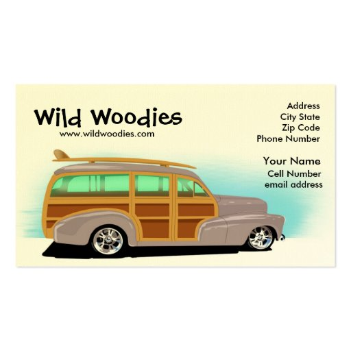 Wild Woody Business Card
