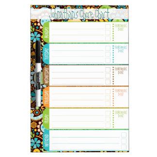 Wild World - Kids' To-Do List / Schedule / Chores Dry Erase Whiteboards