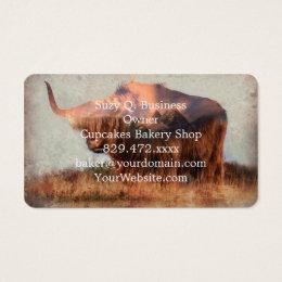Wild yak - Yak nepal - double exposure art - ox Business Card