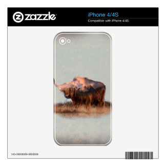 Wild yak - Yak nepal - double exposure art - ox Decal For The iPhone 4S